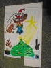 szívószálból készült karácsonyfa, rajzkombináció-