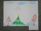 szívószálból készült karácsonyfa